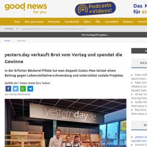 yestern.day - Berichterstattung bei good news for you